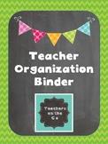Classroom Organization Binder {Chalkboard & Rainbow}