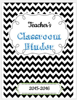 Teacher Organization Binder (Editable)