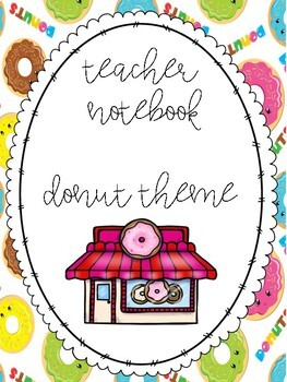 Teacher Organization Binder Pages - Donut Theme!