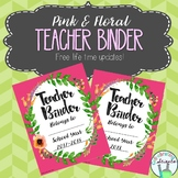 Teacher Organization Binder / Planner Covers Only (2017-20