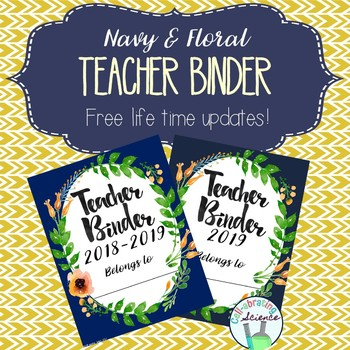 Teacher Organization Binder / Planner Covers Only (2017-2018, 2018, & Blank)