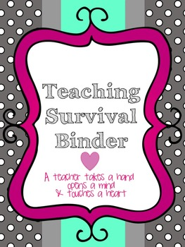 Teacher Organization Binder- PolkaDot Theme