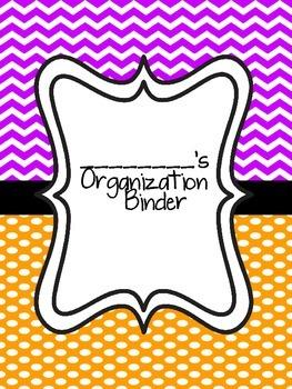 Teacher Organization Binder- Purple and Orange