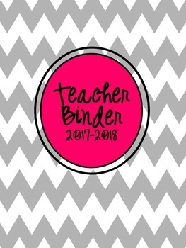 All in One Teacher & Personal Organizational Planner in Grey Chevron and Pink