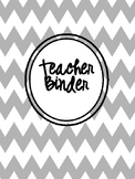All In One Teacher  & Personal Organizational Planner! in grey chevron and white