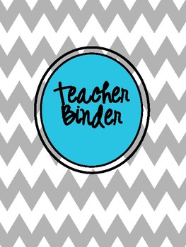 All in One-Teacher & Personal  Organizational Planner  in Grey Chevron and Teal