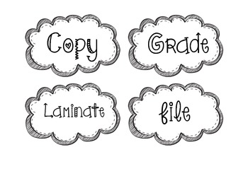 Teacher Organization Drawer Labels