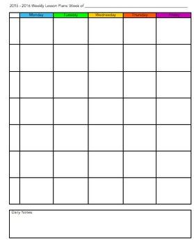 Teacher Organization Kit for a Binder