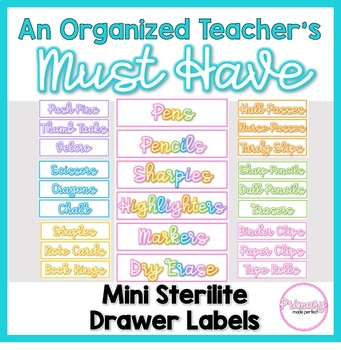 Teacher Organization Must Have: Sterilite Mini Drawer Labels