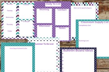 Teacher Organization Packet