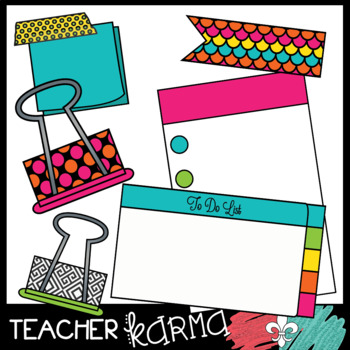 Teacher Organization & Planning Clipart BUNDLE