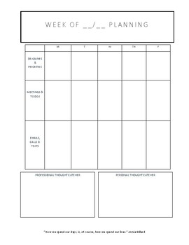 Teacher Organization Template