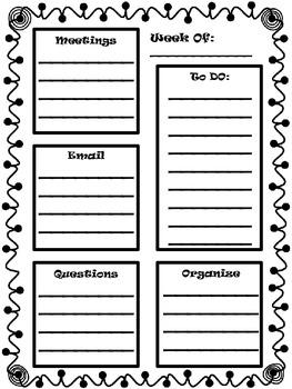 Teacher Organization/To Do List