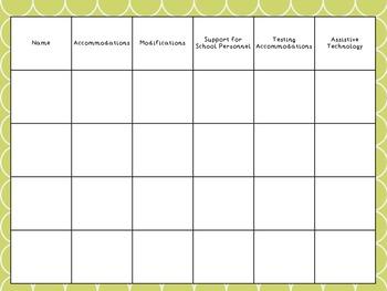 Teacher Organizational Binder