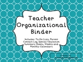 Teacher Organizational Binder