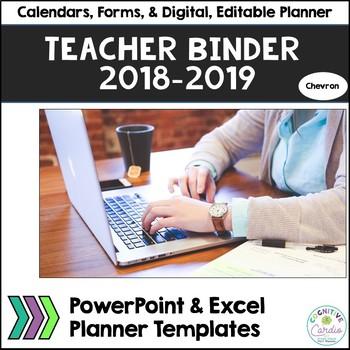 Teacher Organizational Binder, 2016-17, Chevron