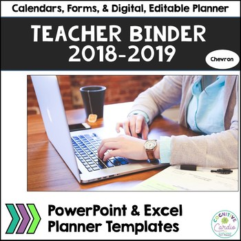 Teacher Organizational Binder, 2017-18, Chevron