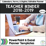 Teacher Organizational Binder, 2018-19, Chevron