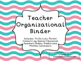 Teacher Organizational Binder-Wavy