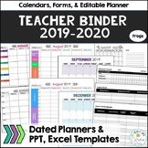 Teacher Organizational Binder (no owl), 2018-19