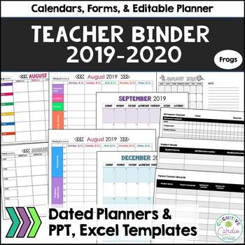 Teacher Organizational Binder (no owl), 2018-19