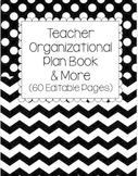 Teacher Organizational Plan Book and More: Black Patterns
