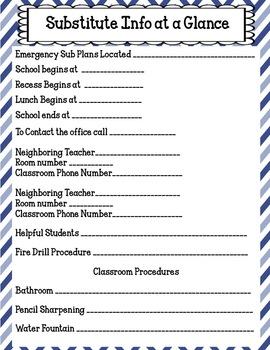 Teacher Organizational Plan Book and More: Blueberry