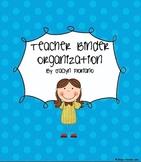 Teacher Organizational Tool Teacher Binder