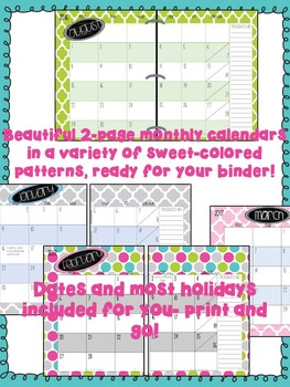 Teacher Planner {Sweet Colors}