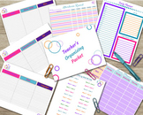 Teacher Organizing Packet - Attendance, Planner, File Tabs & More!