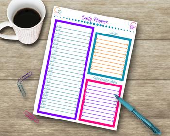 Teacher Organizing Packet - Attendance, Planner, File Tabs & More!
