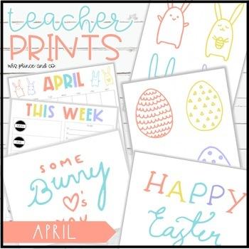 Teacher PRINTS April {teacher stationary and printables}