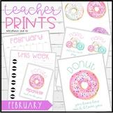Teacher PRINTS February {teacher stationary and printables}