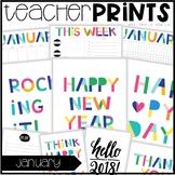 Teacher PRINTS January {teacher stationary and printables}