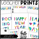 Teacher PRINTS January {teacher stationary and printables}