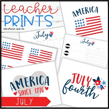 Teacher PRINTS July {teacher stationary and printables}