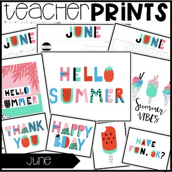 Teacher PRINTS June {teacher stationary and printables}