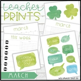 Teacher PRINTS March {teacher stationary and printables}