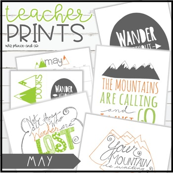 Teacher PRINTS May {teacher stationary and printables}