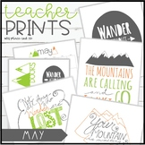 Teacher PRINTS May {teacher stationary and printables}