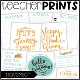 Teacher PRINTS November {teacher stationary and printables}