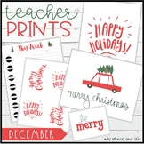 Teacher PRINTS December {teacher stationary and printables}