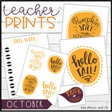 Teacher PRINTS October {teacher stationary and printables}