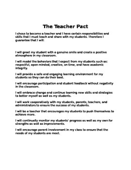 Teacher Pact