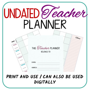 Teacher Paper Planner (Download, Print and Use!)