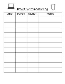 Teacher/Parent Communication Forms
