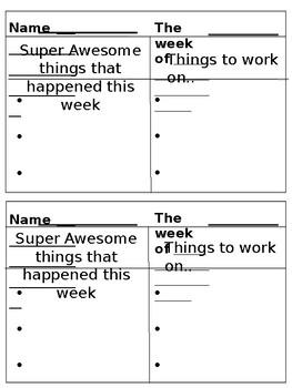 Teacher-Parent Communication Log
