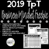 Teachers Pay Teachers Business Organizers for 2018 Freebie