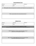 Teacher Peer Observation Form