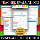 Teacher Performance Evaluation Principals Administrators A